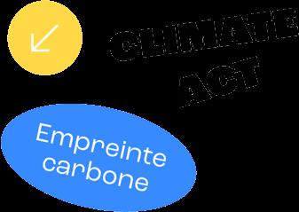 climate act logo carbon footprint reduction emissions de carbone dióxido de carbono