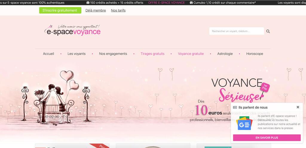 e-spacevoyance.fr ScreenshotScreenshot