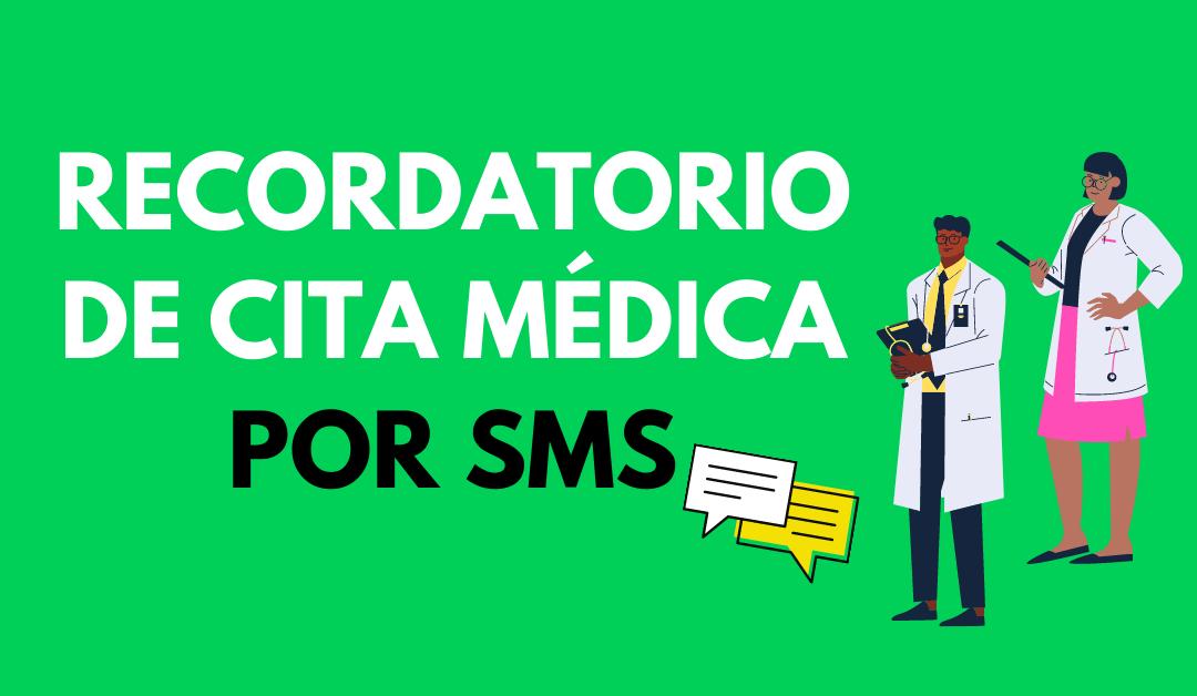 recordatorio de cita medica por sms