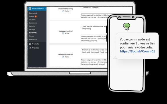 Extension WooCommerce : Envoyer des SMS aux utilisateurs