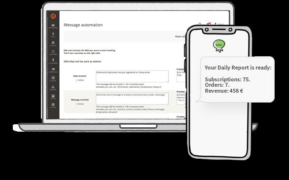 Magento: Send SMS to Admin