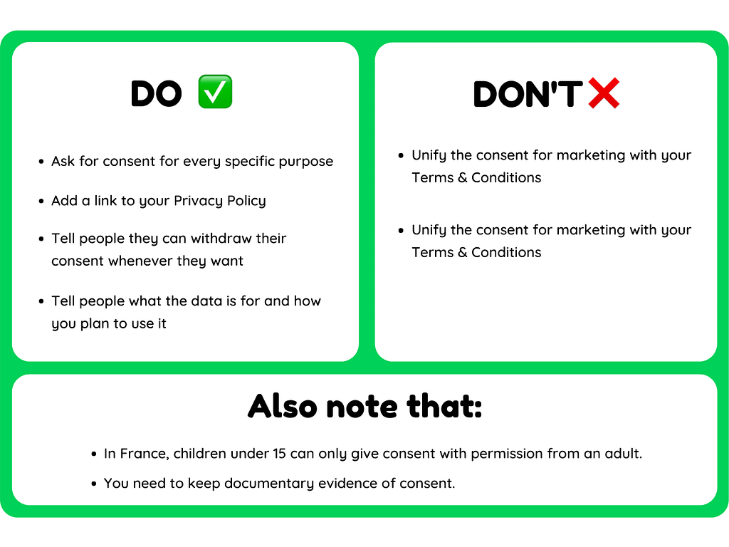Dos and donts GDPR
