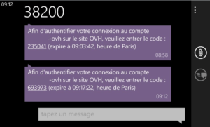 authentification SMS