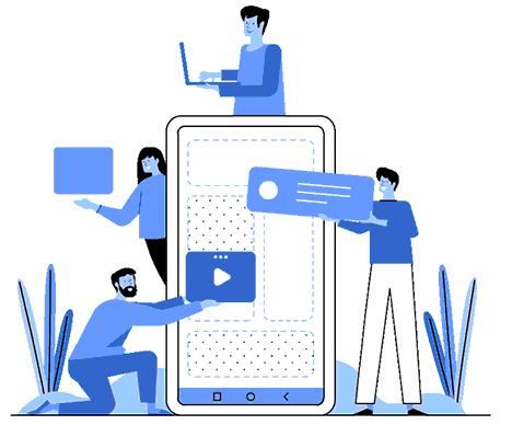 SEO SMS Marketing illustration