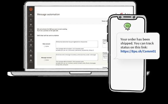 Magento Plugin: Send SMS to Users