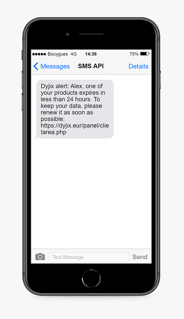 text message example from dyjix