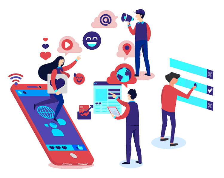 SMS marketing software features illustration