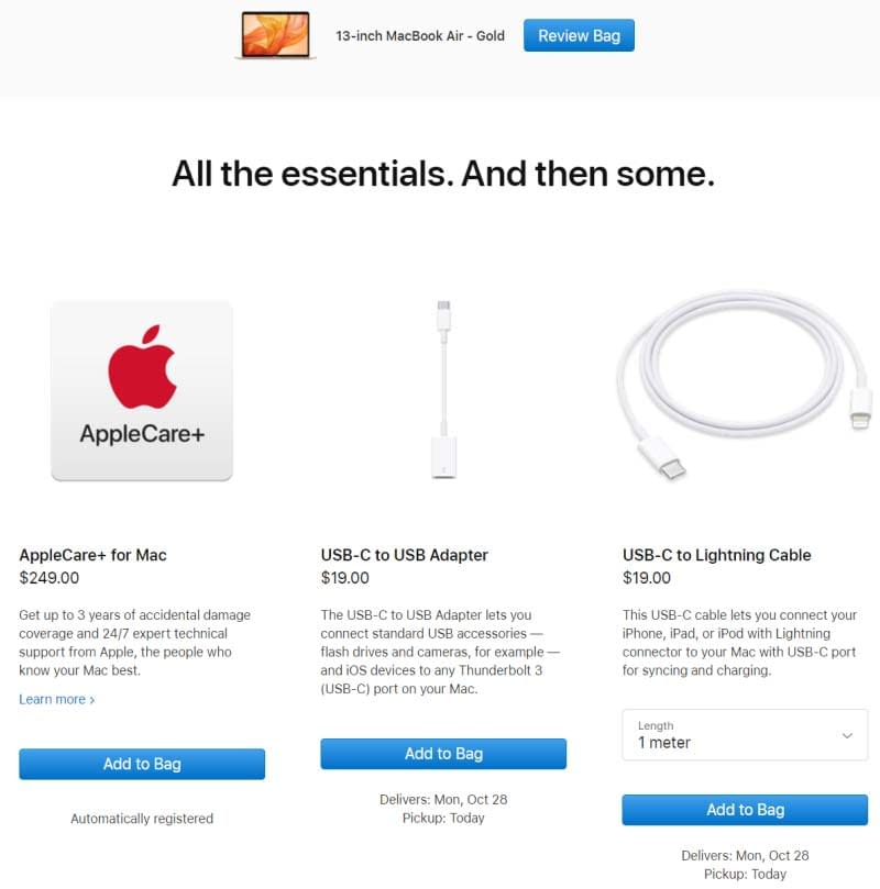all the essentials and some more by apple