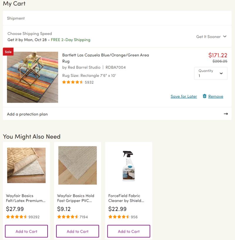 wayfay cross-selling example