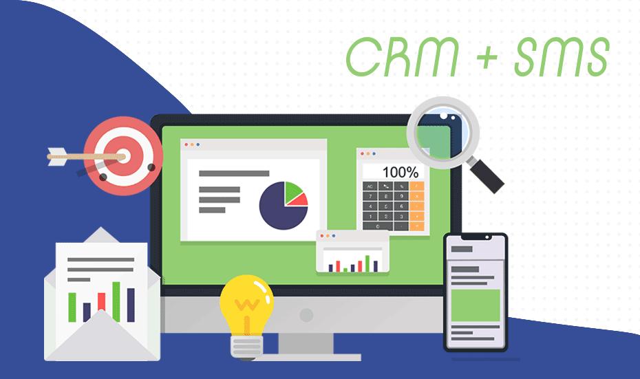 integration SMS CRM illustration