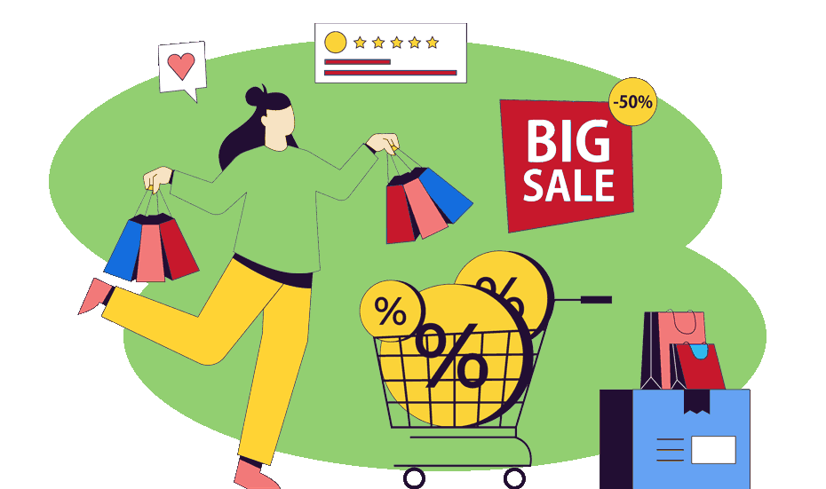 customer retention strategies featured image lady with shopping bags and trolley