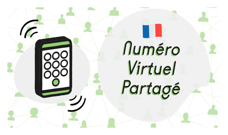 numero virtuel partagé illustration