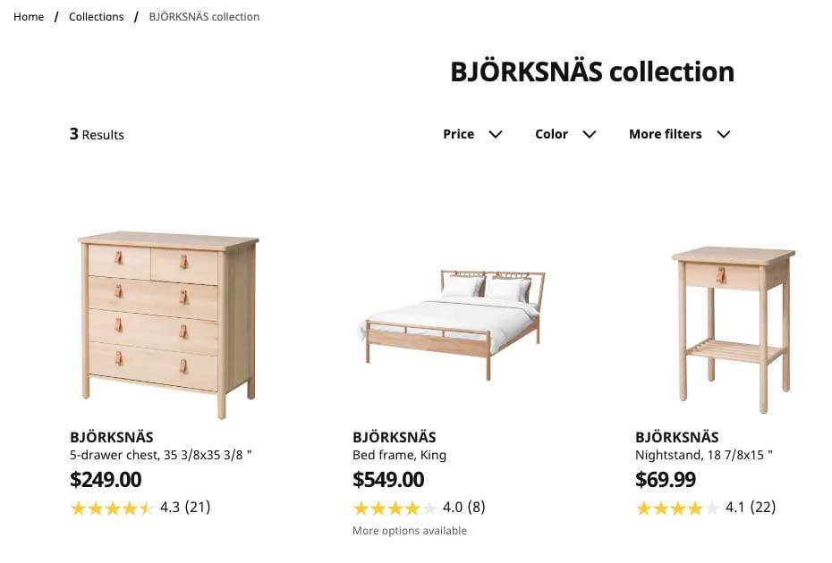 ikea seeling relating furniture
